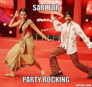 indian-dancing-meme-generator-sari-for-party-rocking-cea7e5