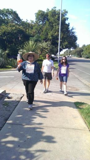 Walking Rosie down South Congress