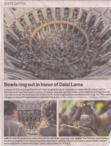 newspaper article on singing bowl event 2