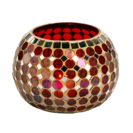 Mosaic of Light candleholder, India, Noah's Ark International Exports, $20