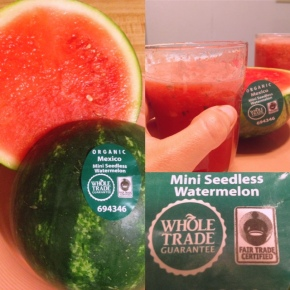 Fairtrade watermelon - perfect for a refreshing Agua Fresca on a hot day!